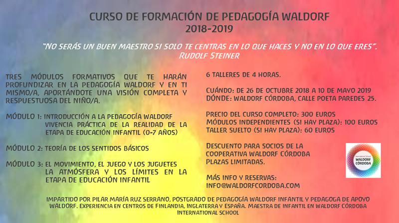 Curso De Formacion Pedagogia Waldorf 2018 2019 Waldorf Cordoba